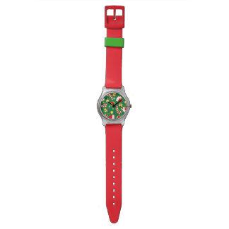 Rojo - el casquillo de Santa Reloj De Pulsera