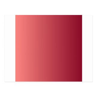 Rojo en colores pastel a la pendiente de la tarjetas postales