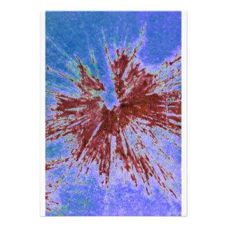 Rojo en Paintball púrpura y azul Invitacion Personalizada