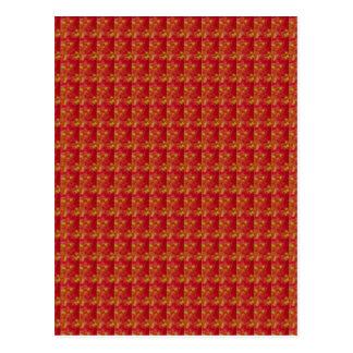 Rojo exótico capturado de la flor: Arte por NAVIN Postal