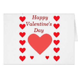 Rojo feliz del el día de San Valentín, te amo, Tarjeta De Felicitación