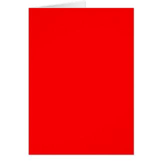Rojo FF0000 Tarjeta De Felicitación