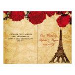 Rojo francés de la torre Eiffel doblado casando pr