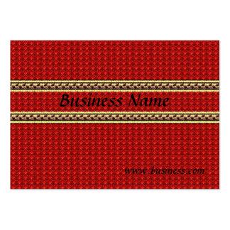 Rojo grabado en relieve negocio de la tarjeta del  tarjetas de negocios