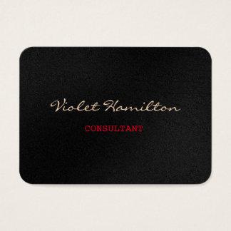 Rojo gris profesional de moda de la escritura tarjeta de negocios