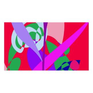 Rojo intrépido del arte abstracto de los colores tarjetas de visita