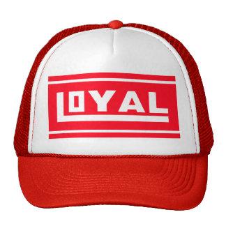 rojo leal del gorra