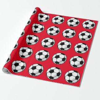 Rojo lindo, papel de embalaje del fútbol