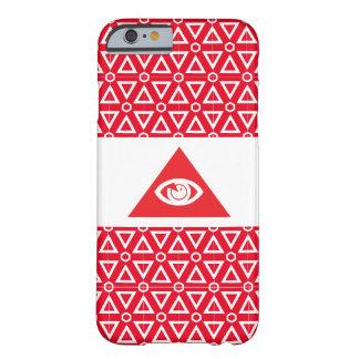 Rojo masónico del ojo funda barely there iPhone 6