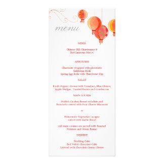 Rojo + Menús asiáticos blancos de la recepción Plantillas De Lonas