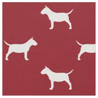 Rojo miniatura del modelo de las siluetas de bull tela