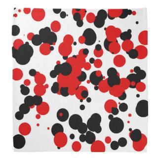 Rojo negro blanco bandanas