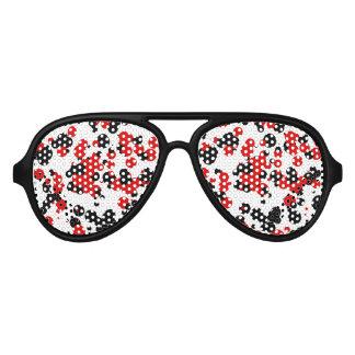 Rojo negro blanco gafas de sol