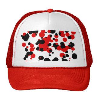 Rojo negro blanco gorro de camionero