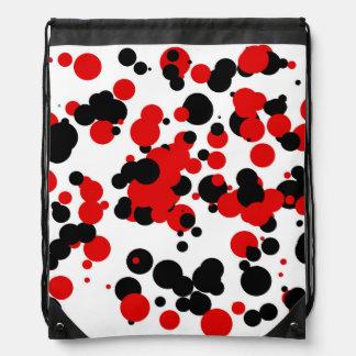 Rojo negro blanco mochila