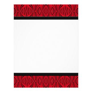 rojo negro folleto 21,6 x 28 cm