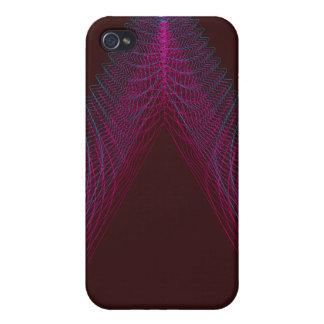 Rojo ondulado del guilloquis del triángulo iPhone 4 coberturas