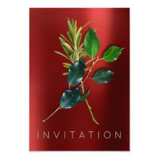 Rojo orgánico del cocinero de las especias del invitación 8,9 x 12,7 cm
