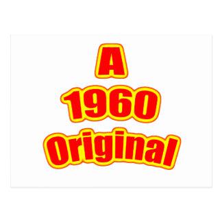 Rojo original 1960 postal