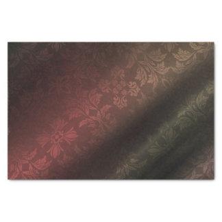 Rojo, oro, papel seda verde de Foral 10lb