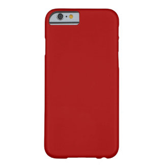 Rojo oscuro del caramelo funda para iPhone 6 barely there