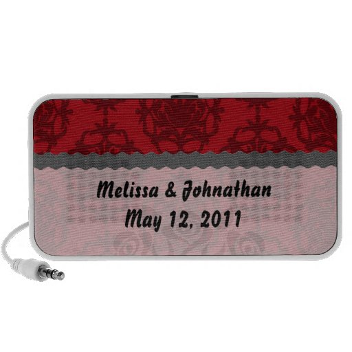 rojo oscuro en el recuerdo rojo del boda del damas laptop altavoces