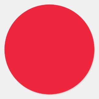 Rojo Pegatina Redonda