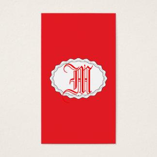 Rojo perfecto tarjeta de negocios