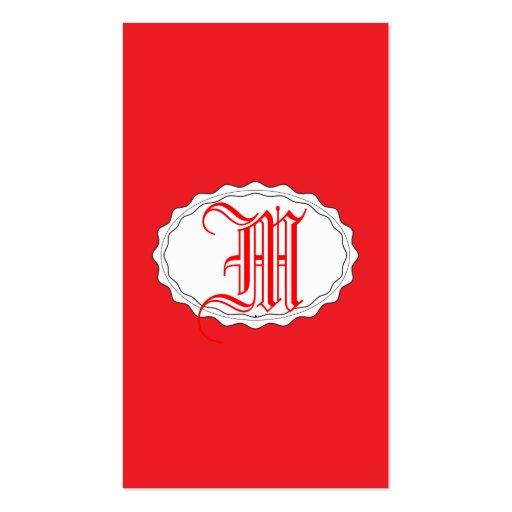 Rojo perfecto tarjetas de visita
