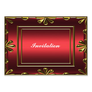 Rojo popular de la fiesta del cumpleaños de las invitación 12,7 x 17,8 cm