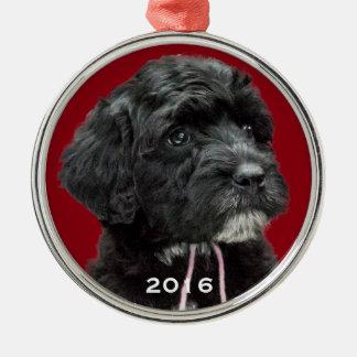 Rojo portugués del ornamento del perro de agua