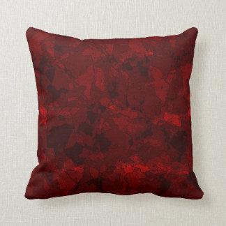 Rojo sangre cojín decorativo