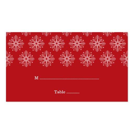 Rojo + tarjeta blanca del lugar del boda del invie tarjeta de visita