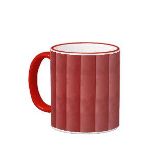 Rojo veteado tejado taza de dos colores