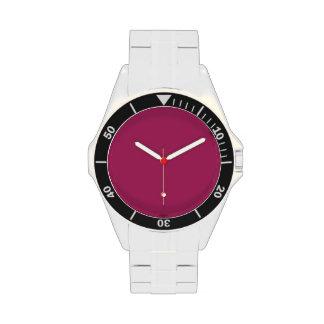 Rojo violeta reloj