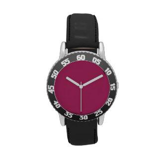 Rojo violeta relojes de pulsera