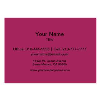 Rojo violeta tarjetas de negocios