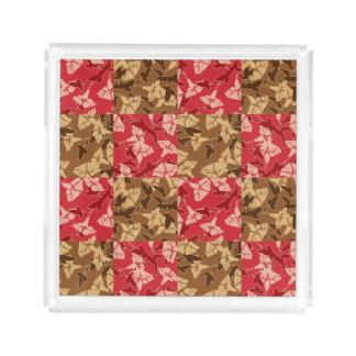 Bandeja Acrílica Rojo y bandeja floral del otoño de los colores de