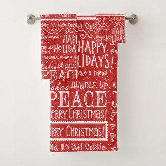 Rojo y blanco del verso del navidad