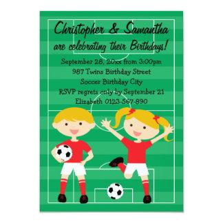Rojo y blanco hermana a la fiesta de cumpleaños invitación 12,7 x 17,8 cm