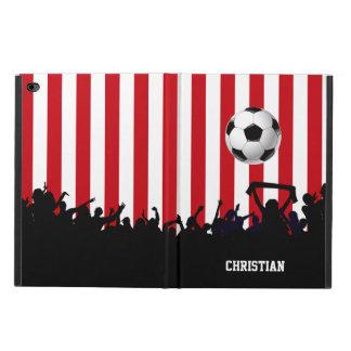 Rojo y blanco raya los aficionados al fútbol y