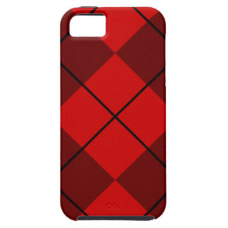 Rojo y Borgoña Argyle iPhone 5 Funda
