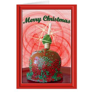 Rojo y caramelo Apple asperjado verde Tarjeta
