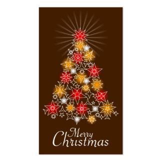 Rojo y etiqueta 2 del regalo del árbol de navidad  tarjetas de visita