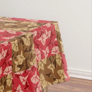 Mantel Rojo y mantel floral del otoño de los colores de