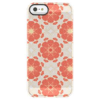 Rojo y modelo floral del cordón del oro funda permafrost® para iPhone SE/5/5s