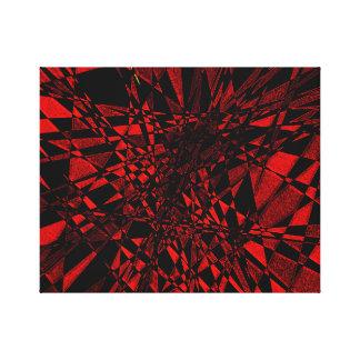Rojo y negro impresión en lienzo