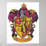 Rojo y oro del escudo de Gryffindor Impresiones