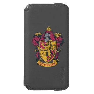 Rojo y oro del escudo de Gryffindor Funda Cartera Para iPhone 6 Watson