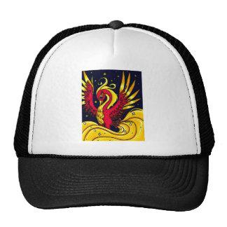 Rojo y oro que vuelan Phoenix Gorras
